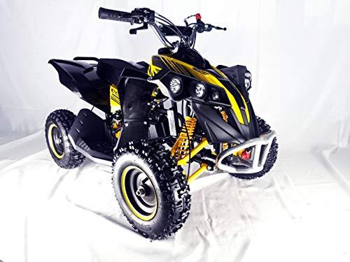 Mini quad de gasolina con motor de 49cc de 2 tiempos -ATV17 KING KONG. / Mini quad para niños de 5 a 12 años/miniquad infantil (AMARILLA)
