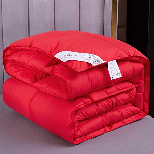 CHOU DAN Anti-allergic double duvet 4Tog summer duvet double bed-150x200cm 4000g_Wedding red