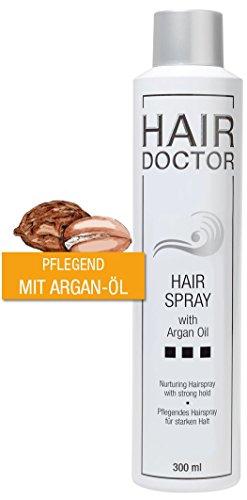 Hair Doctor Hair Spray Strong mit Arganöl Schutz und Pflege Geschmeidigkeit und Glanz ohne zu Beschweren Spielend Auskämmbar 300ml