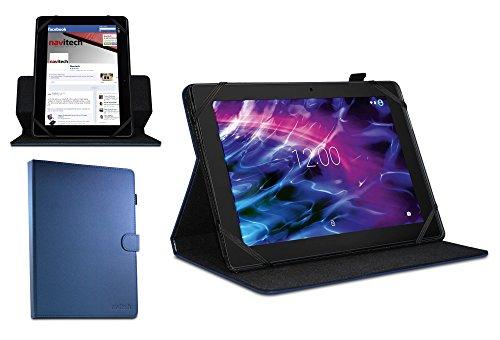 Navitech Blau 10 Zoll rotierbares Stand Case Cover Etui Hülle für das MEDION LIFETAB X10607 + MEDION LIFETAB P10356 Tablet 10.1