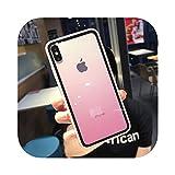 Dremy1 透明なグラデーション電話ケースfor iPhone 11プロXS最大XR X 7 8 6 6 sプラスアクリルキャンディーカバーバックカバーcoque-Pink-for iPhone 11 Pro