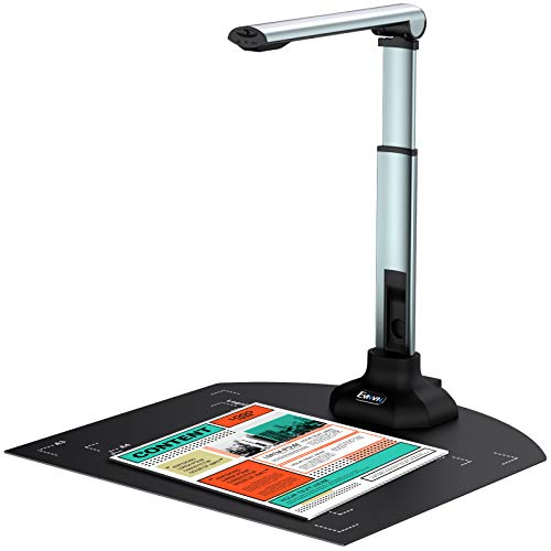 12MP USB Document Camera for Teachers Laptop, A3/A4 Size, Portable Book Document Scanner with Extension Stand, OCR, Zoom,Paint Tool, Live Streaming for School Distance Learning&Web Conferencing