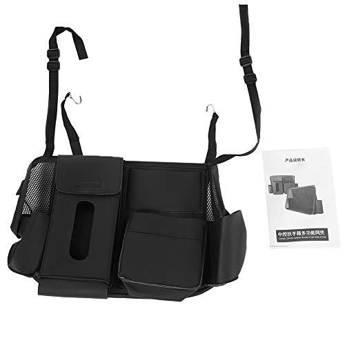 Zitzak voor autostoel, PU-leer, achterbank, accessoires, pocket organizer, zwart