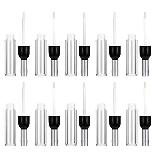 PIXNOR 16 Unidades de Botellas de Lápiz Labial Vacías 5Ml Tubos de Brillo de Labios en Forma de Botella de Vino Tubos de Lápiz Labial DIY Bálsamo Labial Caja de Muestra Contenedor de