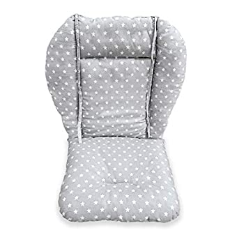 High Chair Cushion High Chair Pad/seat Cushion/Baby High Chair Cushion,Soft and Comfortable,Light and Breathable,Make The Baby More Comfortable  Gray Background Stars Pattern