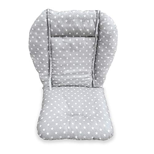 High Chair Pad, Amcho highchair/Seat Cushion Protective Film Breathable Pad (Gray Background Stars Pattern)
