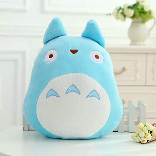 30/40/45 cm Lindo Totoro Almohada de Peluche de Juguete Totoro Figura de Moda muñeca Suave decoración Suave para el hogar cojín de Almohada blue40x28cm