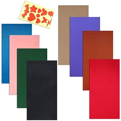 Paquete de 8 parches de reparación autoadhesivos con papel guía de modelo, resistente al agua ligero poliéster pegatinas de reparación para ropa agujeros, impermeable mochilas tienda de campaña saco