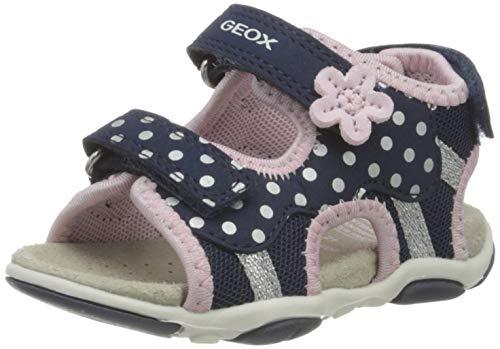 Geox Baby Mädchen B AGASIM Girl D Sandalen, Blau (Navy/Pink C0694), 23 EU