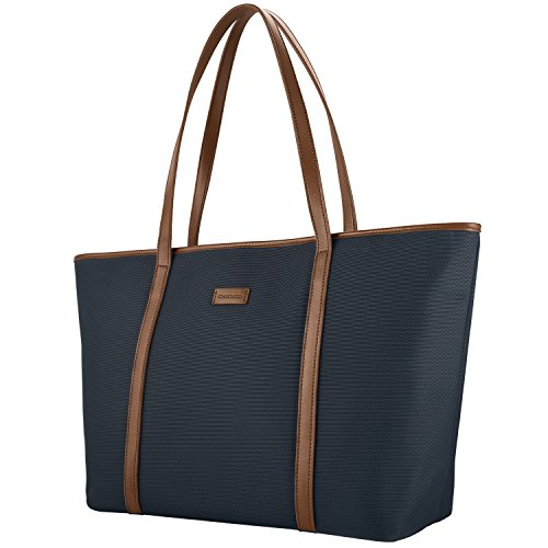 NEW Extra Large Work Tote Bag, CHICECO X-Large 22.83 Inch Length Travel Bag fits to Laptop for Women (X-Large, Blue)