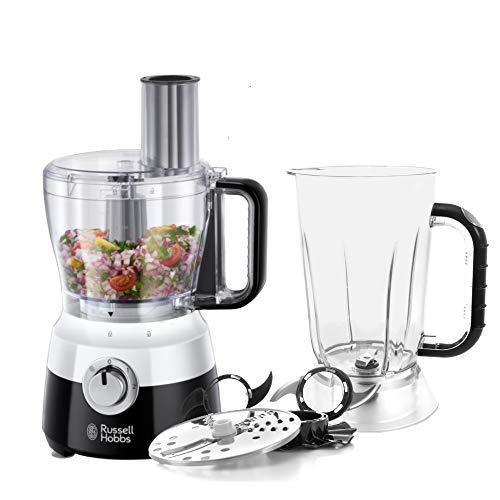 Russell Hobbs Robot Cuisine Multifonction, 2Vitesses, Fonction Pulse, 7 Accessoires Inclus - Blanc 24731-56 Horizon