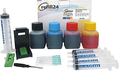Kit de Recarga para Cartuchos de Tinta Canon 510,512,511,513 Negro y Color, Incluye Clip y Accesorios + 200 ML Tinta