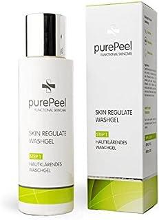 purePeel Skin Regulate Washgel 1 x 100 ml/Gesichtsreinigung/Klärendes Waschgel mit BHA Salicylsäure/erfrischt und belebt für ein klares Hautbild bei Mitessern, Blackheads, Pickeln & Pusteln