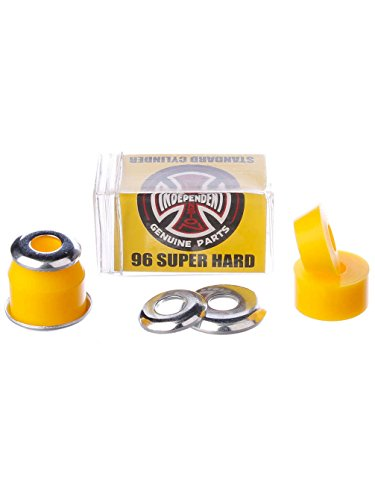 Independent Bushings Standard Cylinder Super Hard 96A 2x Set Yellow-O/S