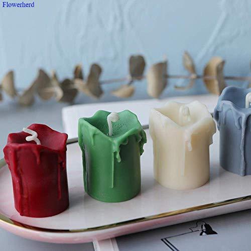 AMITD Creatieve vorm scheurende kaars maken vormen siliconen geurkaars handgemaakte DIY kaars maken u ronde kaars