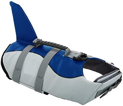 CITÉTOILE Hunde Schwimmweste Mit Weichem Griff Rettungsweste Schwimmkörper für Haustier Schwimmen Rafting Boot Fahren Surfen Training Gewässern, S-XL Blau