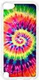 ipod 5 case tie dye - Bright Tie-Dye- Case for the Apple Ipod 5th Generation-Hard White Plastic