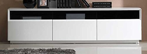 J and M Furniture TV Stand, White High Gloss