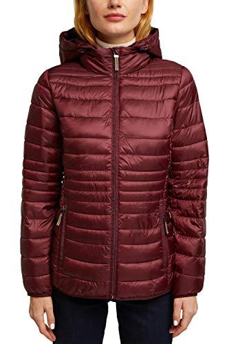 ESPRIT Damen 070EE1G306 Jacke, 600/BORDEAUX RED, Medium