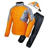 ラフアンドロード(ROUGH&ROAD) バイク用レインウェア デュアルテックスレインスーツ オレンジ L RR7808