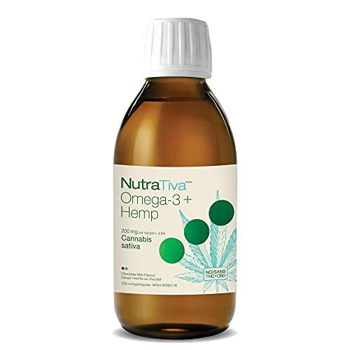NutraTiva by Nature's Way Omega-3 + Hemp Oil, 1250 mg of EPA + DHA, 200 mg of hemp seed oil, 200 ml Liquid