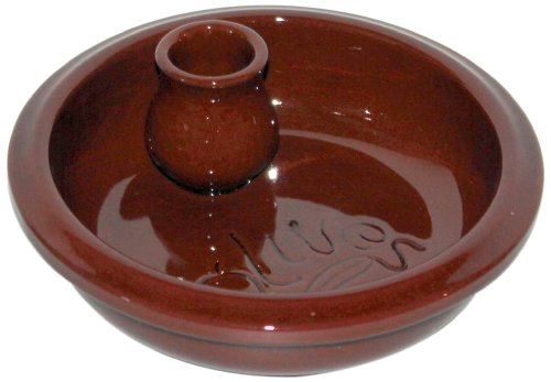 Amazing Cookware Plat rond en terre cuite Inscription Olives Marron 17 cm