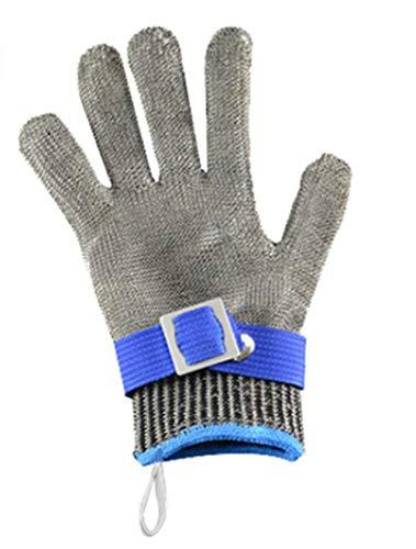 25,5 cm Stahldraht-Handschuhe, Fünf-Finger-Stahlhandschuhe, Fischtöten, rutschfeste Handschuhe, Edelstahl, Anti-Stoch-Handschuhe, Fleischschneide-Handschuhe