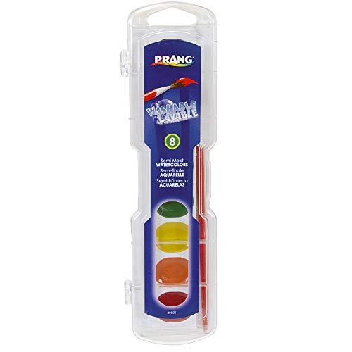 Prang DIX80525BN Semi-Moist Washable Watercolor Set, 8 Colors, Paint/Plastic, Multi (Pack of 6)