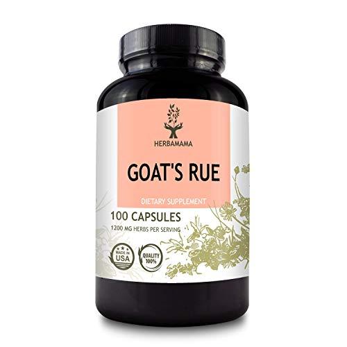 Goat's Rue 100 Capsules 1200 mg | Lactation Supplement | Supports Mammary Tissue Development | Breast Feeding Capsules | Non-GMO