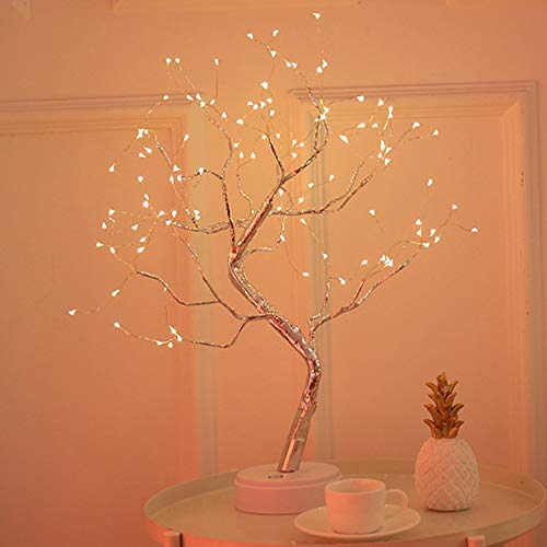 LOVE-HOME Night Lights voor Tree Light Night Light kinderen met touch-schakelaar Pearl lantaarn Firefly LED koper