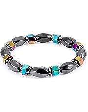 Stretch AB Color bracelet Gallstone Slimming Resin magnetic Bracelet For Women Men Beads Bracelets handmade beaded Men jewelry