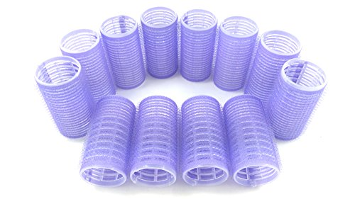 Medium Size Hair Rollers Curlers Self Grip Holding Rollers Hairdressing Curlers Hair Design Sticky Cling Style For DIY Or Hair Salon By Kamay's (Gripping Sticky Rollers 30mm/1.2'12PCS Random Colors)