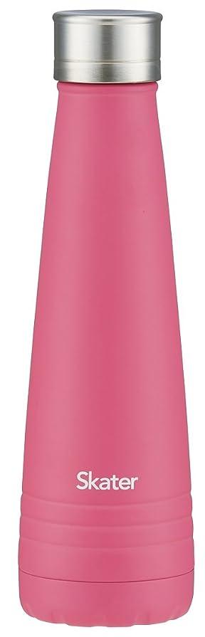 ファイタークロス化石スケーター 保冷専用 スリム ステンレスボトル 水筒 420ml ピンク STZ4