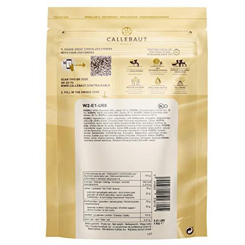 CALLEBAUT Weiße Schokolade, Kuvertüre,  Callets, 28% Kakao, 1kg - 2