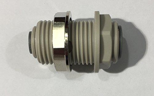 JOHN GUEST - 3/8 'OD' X 1/4 ''-Manicotto di riduzione OD paratia parete-Connettori accessori, con Push-in, imperiale)