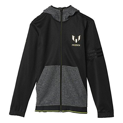 adidas Jungen Sweatshirt YB M FZ Hoodie Jacken/Anoraks, Schwarz, 110