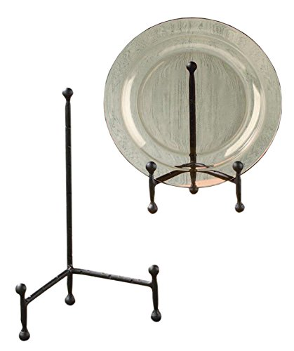 """Red Co. Decorative Tripod Plate Stand and Art Holder Easel in Black Finish  - 6"""" h"""