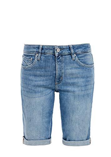 Q/S designed by - s.Oliver Damen Slim Fit: Jeans-Bermuda medium blue 38