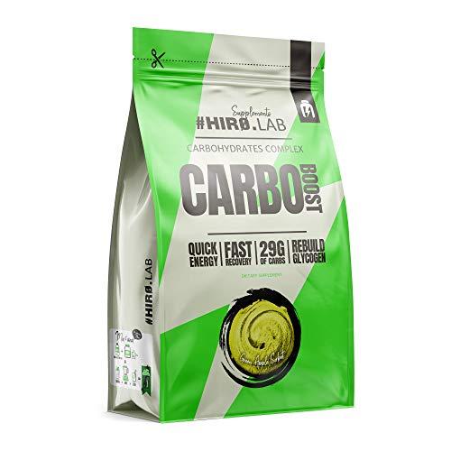 Hiro.Lab Carbo Boost - Carbohydrate Booster - Suplemento que proporciona una gran fuente de energía - Dextrosa y almidón hidrolizado - Complejo de carbohidratos (Manzana, 1000g)