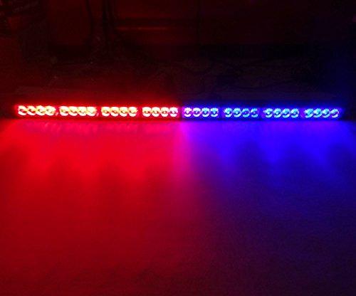 HEHEMM 88,9 cm 12 V Super Lumineux 32 LED Voiture Lumière Auto Pompier Clignotant Avertissement d'urgence Stroboscope