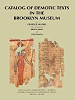 Catalog Of Demotic Texts In The Brooklyn Museum (Oriental Institute Communications)