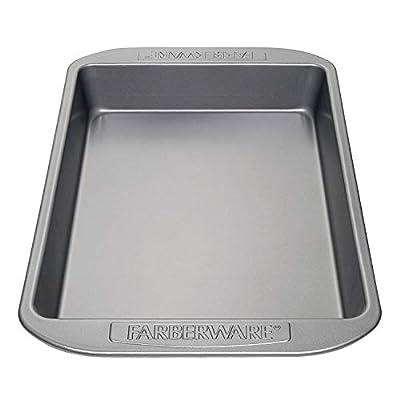 Farberware Nonstick Bakeware Baking Pan / Nonstick Cake Pan, Rectangle - 9 Inch x 13 Inch, Gray