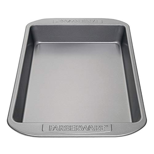 Farberware Nonstick Bakeware Baking Pan / Nonstick Cake Pan, Rectangle - 9 Inch x 13 Inch, Gray