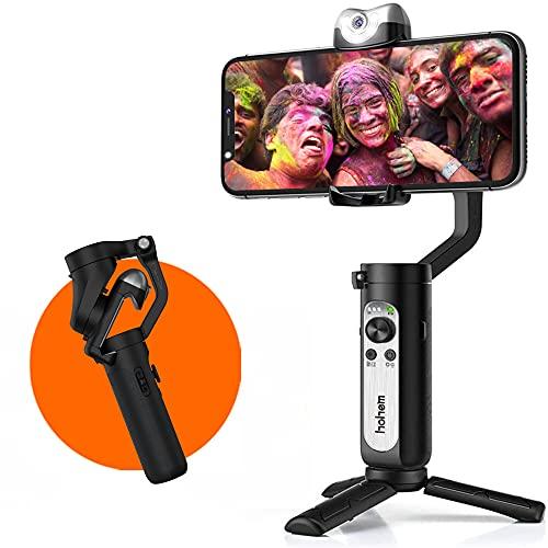 Hohem iSteady V2 Stabilizzatore cardanico per smartphone con intelligenza artificiale a 3 assi con tracciamento visivo AI Luce video a LED Gimbal pieghevole per iPhone12 11Pro Max Samsung S20 per Vlog
