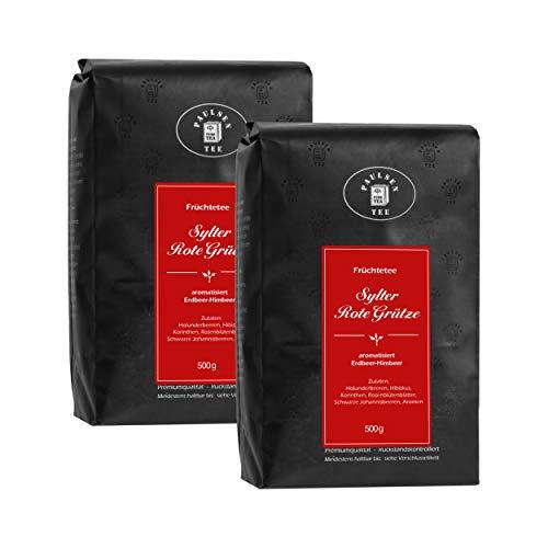 Sylter Rote Grütze 2 x 500g (25,00 Euro / kg) Paulsen Tee Früchtetee rückstandskontrolliert