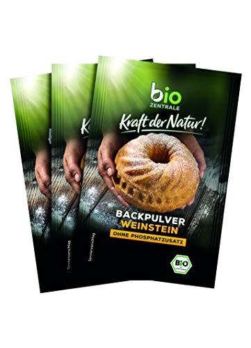 biozentrale Backpulver, 10er Pack (10 x 3 x 21 g)