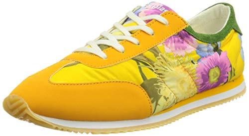 Desigual Shoes_Royal_Flowers, Baskets pour Femme, Jaune...