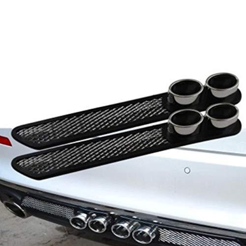 Universal Car Lüftungs dekorative Shark Aufkleber 480mm Für Auspuff BQB 2018 (schwarz + Silber) DEjasnyfall