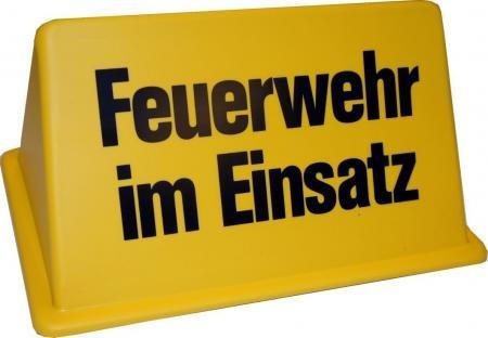 Dachaufsetzer Feuerwehr im Einsatz in gelb/schwarz