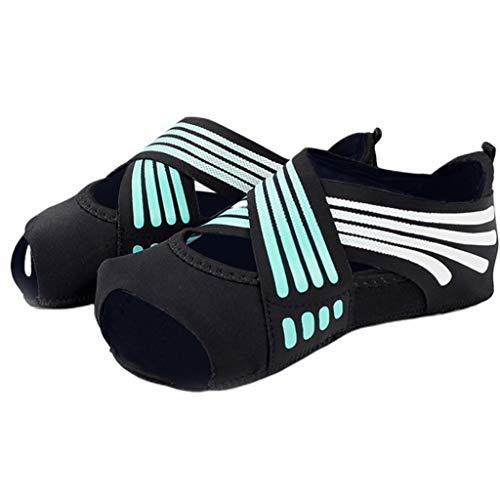 YO-HAPPY, Zapatos de Yoga sin Dedos para Mujer, Suela de Silicona Antideslizante Suave, Calcetines de Ballet para Baile y Pilates